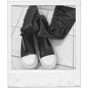 Rick Owens *STYLE* Over The Knee Sneaker Boots